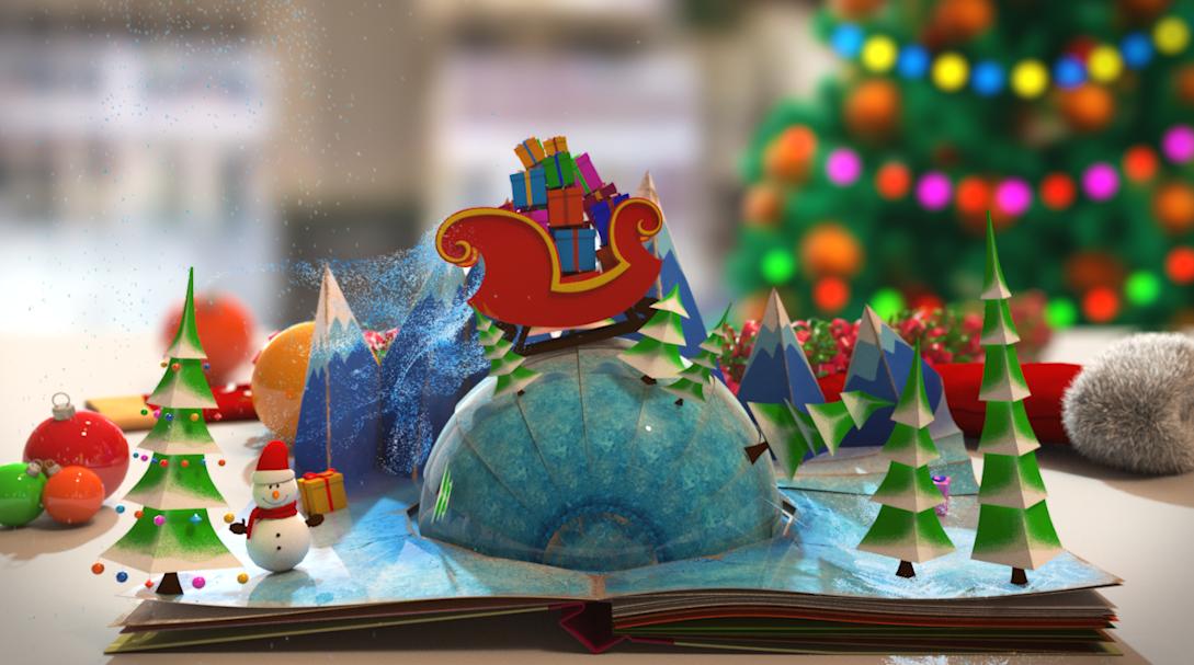 libro con figuras navidad
