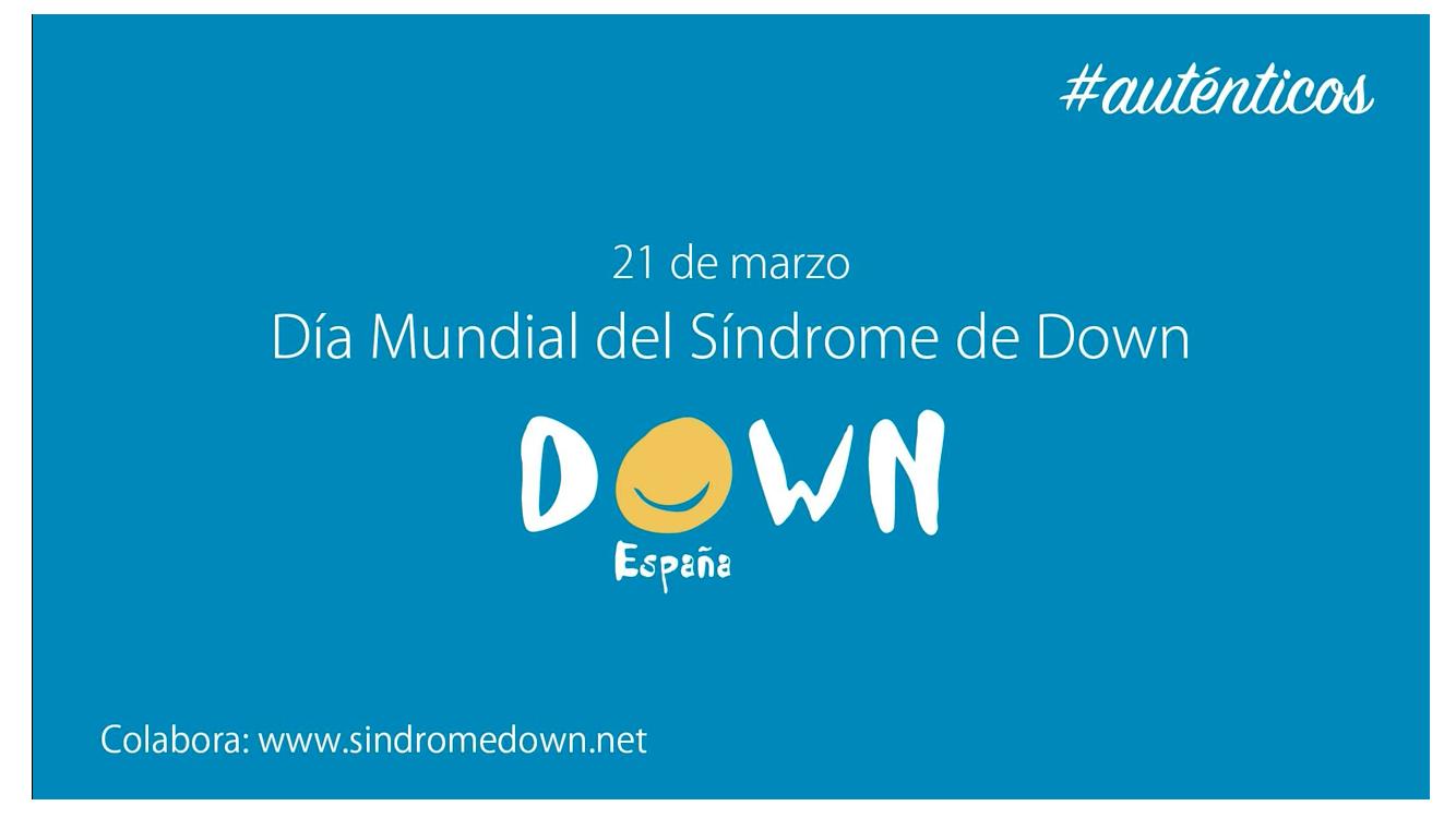 Cartel día mundial síndrome de Down